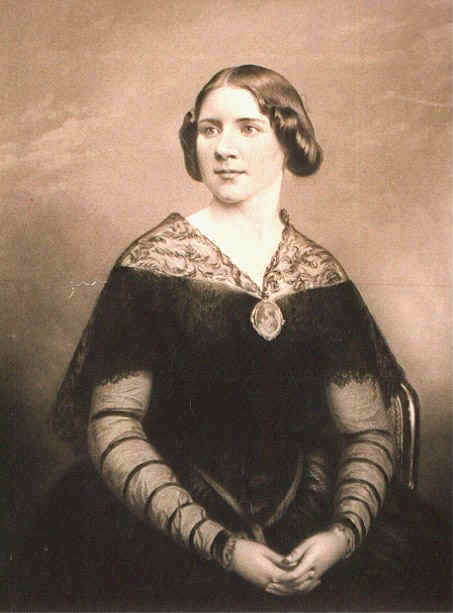 "Jenny Lind (1820-1887): print by William Holl, after a daguerreotype by William Edward Kilburn, London1848 (in the booklet ""Jenny Lind: Her Vocal Art and Cadenze"", 1894)."