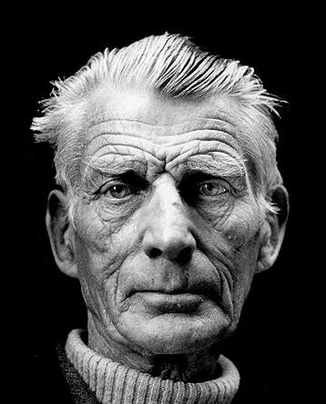 Samuel Beckett (1906-1989), born in Dublin.    From 1932, Beckett lived mostly in France and was, for a time, an associate of James Joyce.  Beckett received the Nobel Prize in Literature 1969.  Photo by Jane Bown.