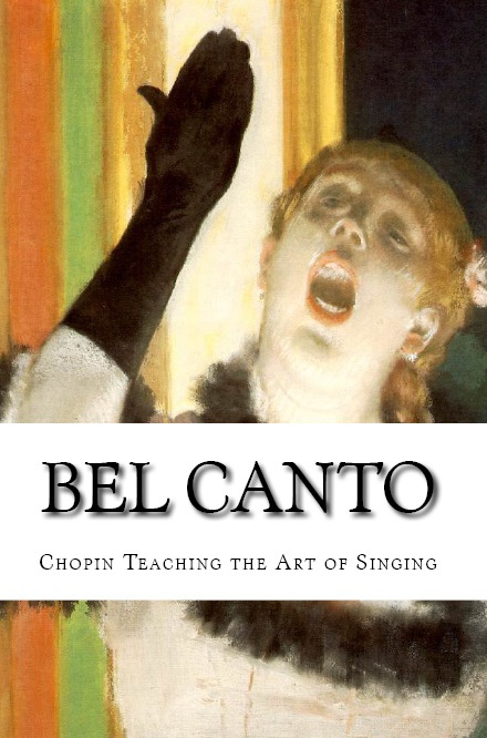 "New discovery in ""BEL CANTO: Chopin Teaching the Art of Singing"" by Icons of Europe (2013). Chopin tutored sopranos in the art of singing.  Composer pianist teacher with a piano and song method for his pupils.  Chopin as seen by his pupils, fellow artists, patrons and the international press."