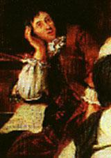 Dietrich Buxtehude (c. 1637-1707).  Detail of an oil painting by Johannes Voorhout (1674), at the Museum für Hamburgische Geschichte, Germany.  Source:   http://www.dacapo-records.dk/komponister/buxtehude.html.