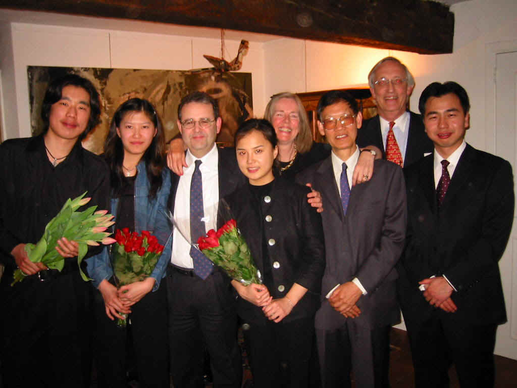 Two piano recitals with three Chinese candidates of the Queen Elisabeth International Music Competition at the home of Cecilia and Jens Jorgensen in Lasne.