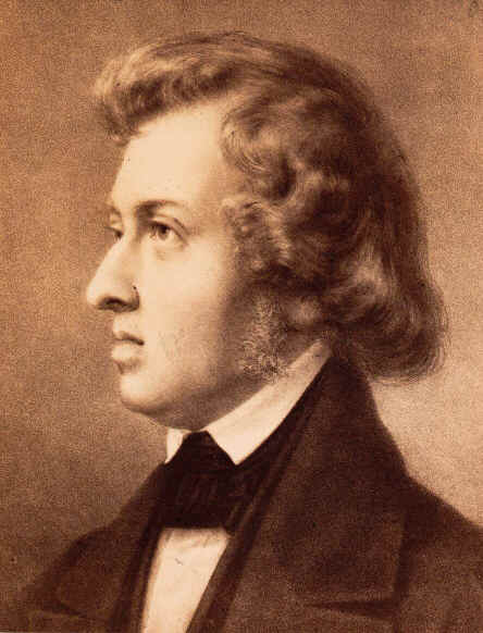 Chopin in 1837;  with permission by Bibliothèque nationale de France.