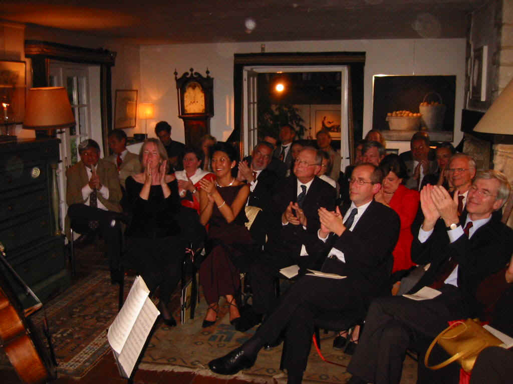 Photo taken from one group of the audience (see above) towards the other group.