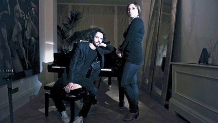 "James Rhodes and Natalya Romaniw (photo © BBC Four).  Performing in the BBC4 documentary ""Chopin - The Women Behind The Music""."