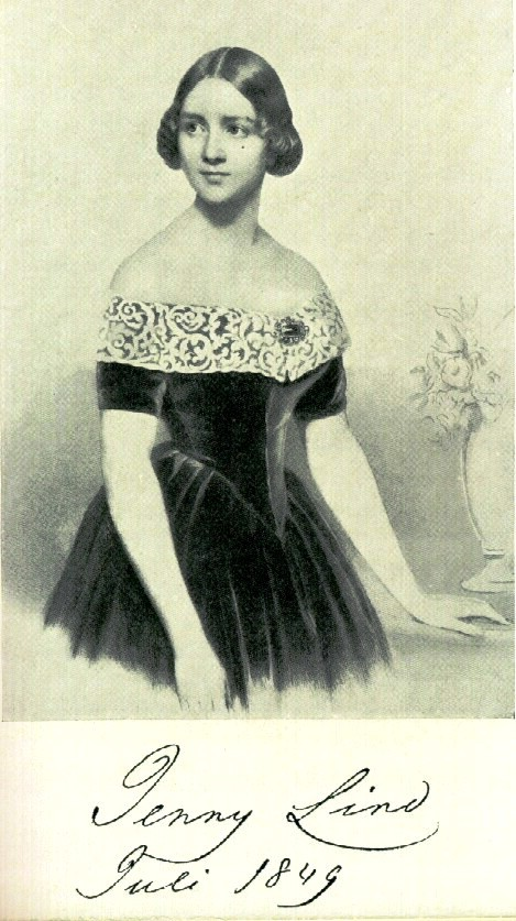 "Jenny Lind, the Swedish Nightingale, Den Svenska Näktergalen. At the portal JennyLind.org: Image from the book ""Jenny Lind"" by Jenny Maude, Stockholm 1927."