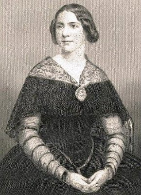 Portrait of Jenny Lind (1820-1887);  engraving by William Holl, after a daguerreotype of 1848 by Killburn, London.