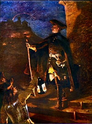 "Charles XII in the painting ""Den 30 november 1718"" by Gustaf Cederström. In the book ""Karl XII: Kungamord!"" by Cecilia Nordenkull, Icons of Europe (2016)."