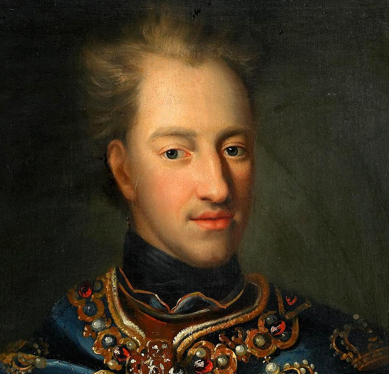 Charles XII of Sweden (1682-1718):  the mystery of his death now resolved by Icons of Europe. Unknown artist.