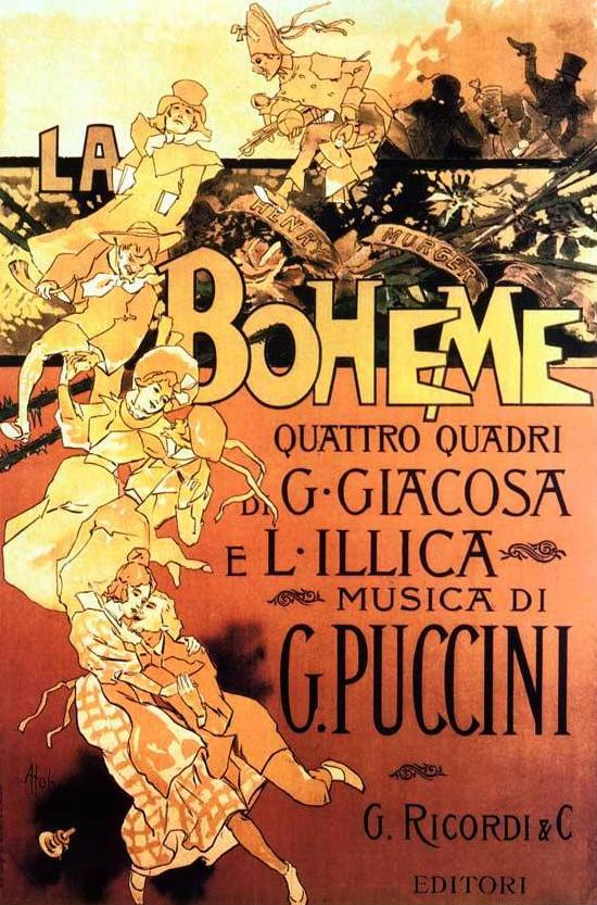 Reasons for why go to the opera.- La Bohème is an opera in four acts, by Giacomo Puccini to an Italian libretto by Luigi Illica and Giuseppe Giacosa.