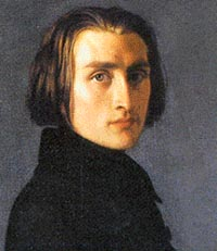 Franz Liszt (1811-1886) was born in Raiding, Hungary.   Liszt studied and played at Vienna and Paris, and toured widely in Europe as a virtuoso pianist.   He visited Brussels in 1841 and 1842.  His works include 12 symphonic poems, Masses, two symphonies, and a large number of piano pieces (he created the solo piano recital).  Image provided by Digital Vista Inc., United States.
