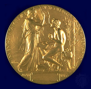 Photo of the Nobel Medal for Literature, from the web site of Yeats Society Sligo, Ireland.