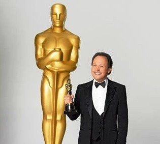 Oscar of the Academy Award clutching a sword.