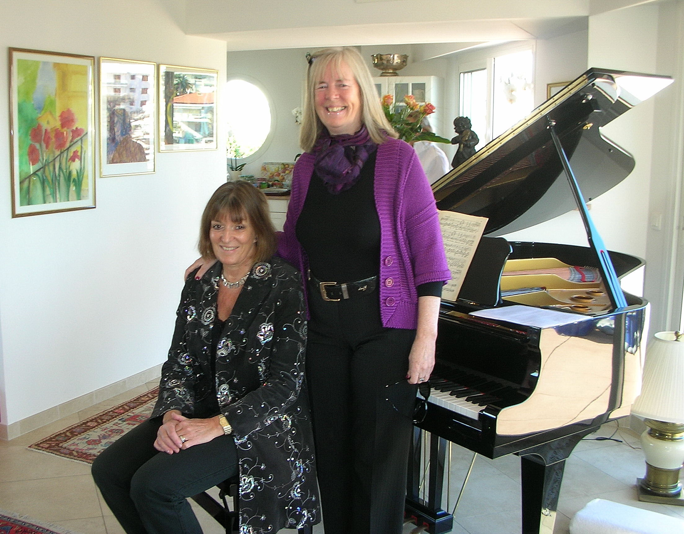 Vivian Rössner Wejke, Stockholm, piano and standing, Cecilia Jorgensen, Icons of Europe (narrator).