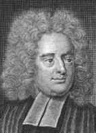 Jonathan Swift (1667-1745), born in Dublin.  A clergyman and satirist, Swift wrote his world-famous satire, Gulliver's Travels, in 1726 (anonymously, like all his works).