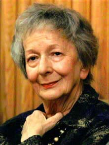Wislawa Szymborska born in Bnin (1923-2012), Poland.  A poet and critic, she wad awarded the Nobel Prize in Literature 1996.  Photo by Polonia-Online.