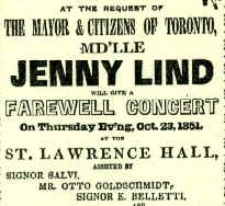 A detail of the original programme of 23 October 1851.
