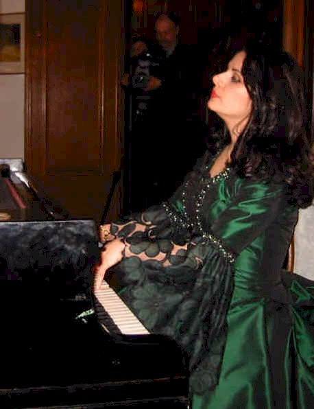 "Ljiljana Jovanovic performing the final aria of Bellini's opera ""La Sonnambula"" in Act 5, Death of Icons of Europe's musical drama at the Swedish Embassy, Warsaw on 6 April 2004.  The act portrays Chopin's final hours shortly before 17 October 1849."